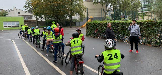 1. Radfahrtraining der 4. Schuljahre